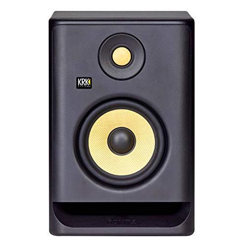 "KRK Rokit RP5G4 4th Gen 5"" Powered Studio Monitor Speakers Pair w Yellow Stands"