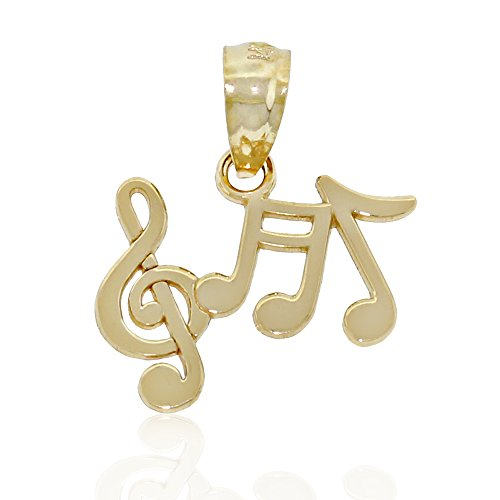 Gold Music 14k Charm (Gold Music Notes Charm Pendant, 14k Solid Gold)