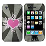Premium - Apple iPhone 3G/3GS Sun Heart Cover - Faceplate - Case - Snap On - Perfect Fit Guaranteed