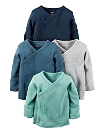 Carter's Baby Boys 4-Pack Cotton Kimono Tees (3 Months)