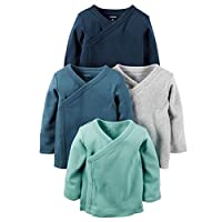 Carter's Baby Boys 4-Pack Cotton Kimono Tees (6 Months)