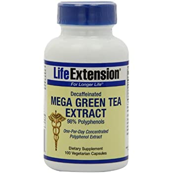 Life Extension Mega Green Tea Extract 100 veg caps -Decaf (100x2)