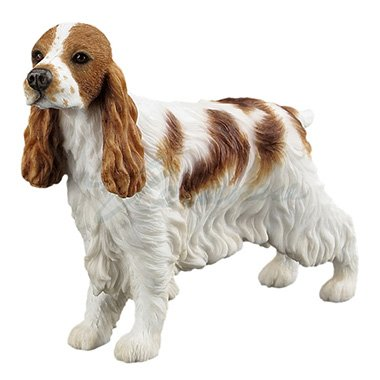 Unicorn Studios WU76907AA Cocker Spaniel Dog Sculpture - White & (Cocker Spaniel Sculpture)
