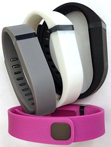 [해외]세트 4 색 : 대형 L 1pc 그레이 1pc 퍼플 핑크 1pc 화이트 1pc 블랙 교체 밴드 Fitbit FLEX 전용 잠금 장치 없음 무선 작동/Set 4 Colors: Large L 1pc Grey 1pc Purple   Pink 1pc White 1pc Black Replacement Bands With Clasp for Fitbit FLEX O...