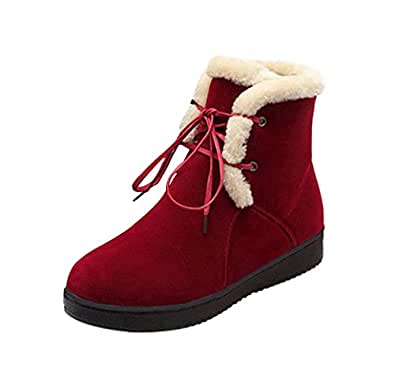Amazon.com   T&Grade Women Lovely Lace Up Skidproof Rubber
