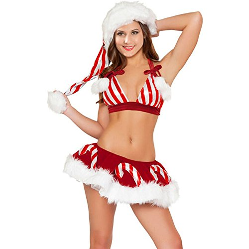 YeeATZ Christmas Lovely Candy Cane Christmas (Miss Sweden Costume)