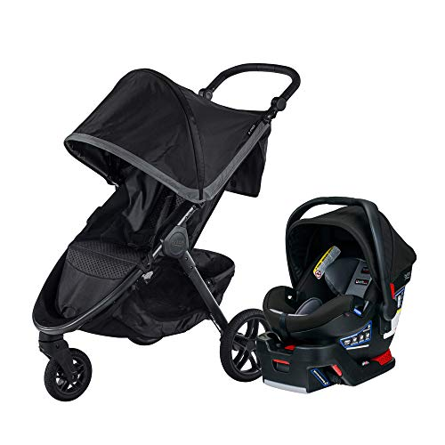 Image of the Britax B-Free & B-Safe Ultra Travel System, Pewter