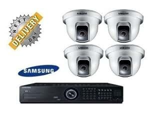 J0E1 -SAMSUNG SRD-852D 8 CANALES TIEMPO REAL H.264 DVR 1TB CON 4 CCTV CAMARA DE SEGURIDAD SAMSUNG CCTV CAMARA SCC-B5344P 2.9~10MM LENTE VARIFOCAL 540TVL EFECTO CCD DINAMICO COMPENSACION