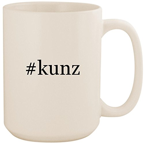#kunz - White Hashtag 15oz Ceramic Coffee Mug (Richard Ivy Water)