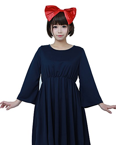 Miccostumes Women's Kiki's Cosplay Dress Halloween Costume Plus Size (3X/4X) Dark Blue ()