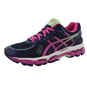 ASICS Women's Gel Kayano 22 Running Shoe, Indigo Blue/Pink Glow/Pistachio, 8 2A US