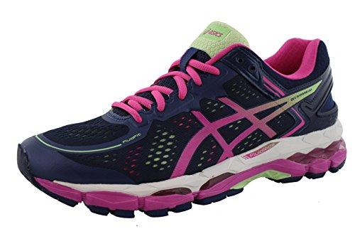 ASICS Women's Gel Kayano 22 Running Shoe, Indigo Blue/Pink Glow/Pistachio, 7.5 M US