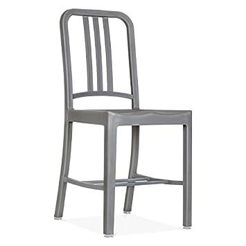 Set of 1 Replica Emeco US Navy Chair Grey Amazonca Home Kitchen