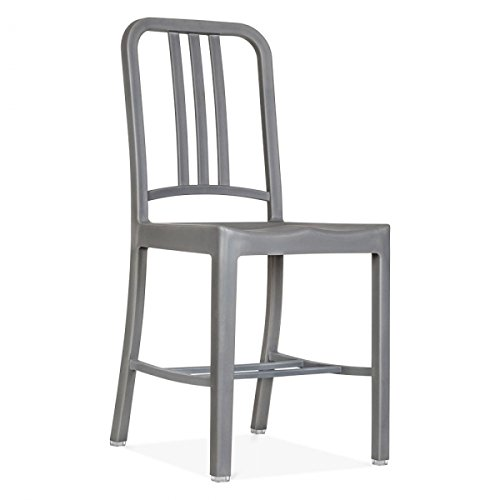 Marvelous Set Of 1 Replica Emeco US Navy Chair   Grey
