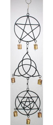 Raven Blackwood Imports Fortune Telling Toys Supernatural Protection Supplies Pentacle Triquetra Solomon's Seal Wind Chime