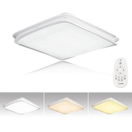 VINGO® 64W LED Moderno Lámpara De Techo LED plafón 3 in 1 Regulable Iiluminación Interior Lámpara de salón Pasillo Cocina Dormitorio cocina y cuarto ...