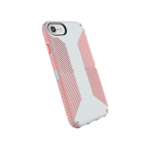 Speck Products Presidio Grip Case for iPhone 8 (Also Fits 7/6S/6), Dove Grey/Tart Pink