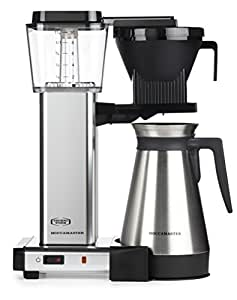 Moccamaster KBGT 10-Cup Coffee Brewer with Thermal Carafe, Polished Silver