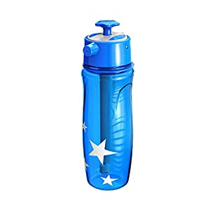 LUCKSTAR Spray Sports Kettle - 22oz Spray Water Bottle Portable Plastic Cup Moisturizing Spray Kettle For Running Cycling Climbing Camping Summer Outdoor Sports (Blue)
