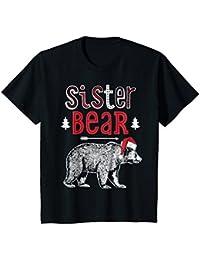 Sister Bear Christmas Santa T Shirt Family Matching Pajamas