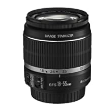 Canon EF-S - Zoom lens - 18 mm - 55 mm - f/3.5-5.6 IS - International non-US Grey Market product with no US warranty