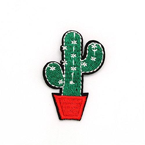 Fablcrew 4Pcs Patchs D/écoratifs Applique Broderie Tissu en Forme de Cactus D/écoration de V/êtements Cr/éation Manuelle DIY Style Al/éatoire