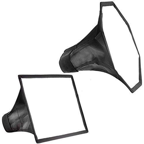 Neewer スタジオソフトボックスフラッシュディフューザーキット:6x8インチの四角形ソフトボックスと6インチの八角形ソフトボックス キャリングケース付き Canon580EX II 600EX-RT NikonSB600 SB800とNeewer TT560 TT680 TT850に対応の商品画像