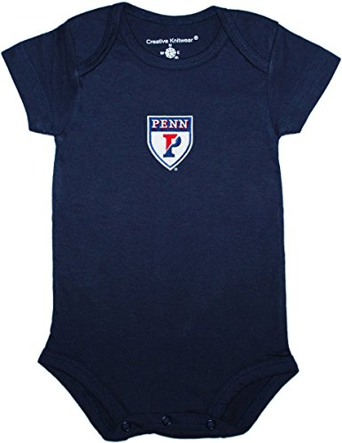 University Shield - University of Pennsylvania Quakers Shield Baby Bodysuit Navy