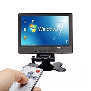 CAIRUTE 7 Inch 1024x600 TFT LCD Color Display Screen Video HDMI VGA AV HD Monitor for Raspberry Pi 3B+ / PC / Home Security / CCTV Camera / Snake Camera / DVR / DVD / DSLR