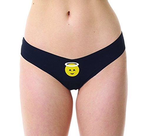 commando Low Rise Emoji Thongs CT09 (Medium/Large, Black) ()