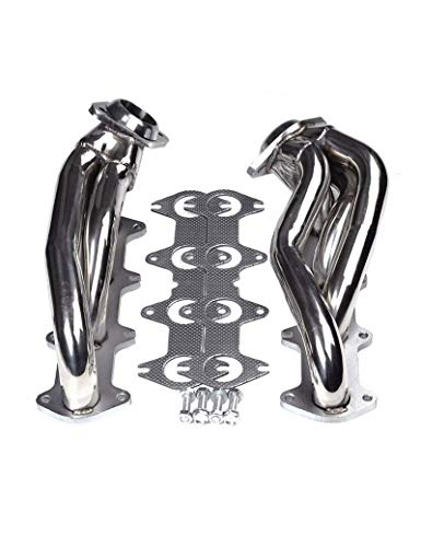 BLACKHORSE-RACING Exhaust Header Stainless Steel Manifold Exhaust Shorty Headers Performance with Gaskets Fit for Ford F150 2004-2010 5.4L V8 ()