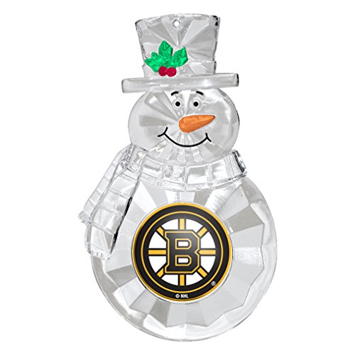 NHL Boston Bruins Traditional Snowman Ornament