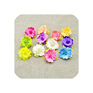 April With You 10pcs Artificial Flowers for Wedding Decoration Silk Stamens for Needlework DIY Handmade Bride Wreath Accessories Pompom 33
