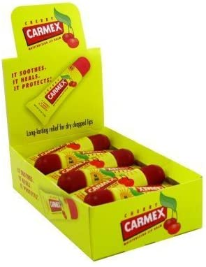 Carmex Lip Balm Cherry Tube Spf#15 (12 Pieces) Display by Carmex: Amazon.es: Salud y cuidado personal