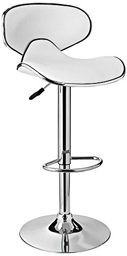 Powell Furniture Adjustable Barstool, White For Sale