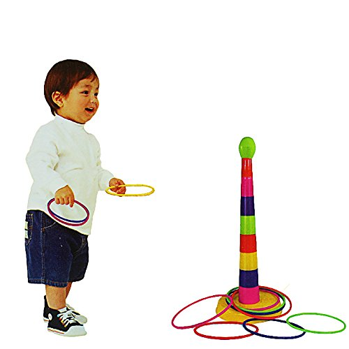 POPIGIST Classic Kids Ring Toss Game - Kids Quoit Games Improve Eye-Hand Coordination and Fine Motor Skills- Funny Throwing Ring Game Toy by POPIGIST