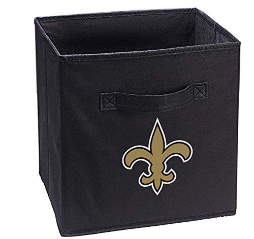Hele Top Saints Black Storage Cube Organizer Bins Black Gifts Collapsible Two Cloth Handle