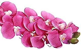 Sconosciuto Saingace artificiale, home Decro simulazione farfalla orchidea Phalaenopsis ramo Home Garden DIY Decor fertilizzante (rosa caldo)