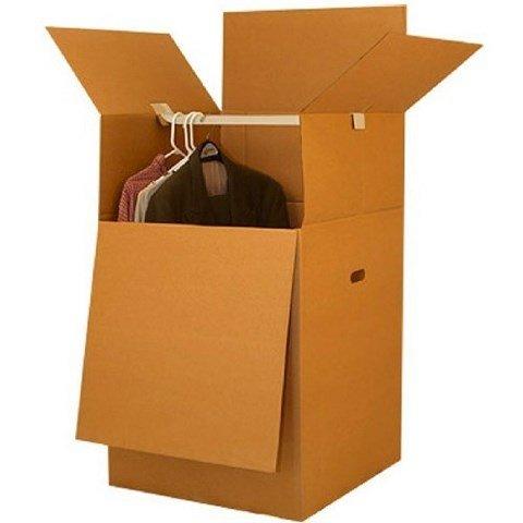 uboxes Shorty ahorro de espacio clóset Cajas de mudanza 50,8x 50,8x 86,4cm Cajas de mudanza, 1-Pack, kraft/corrugado...