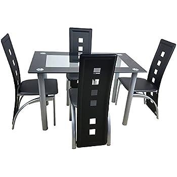 Amazon.com: Muebles de cocina, conjunto de mesa de vidrio ...