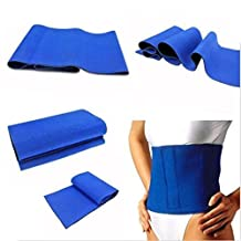 Yosoo Exercise Slimming Belt Abdomen Shaper Waist Trimmer Sweat Fat Cellulite Burner Weight Loss Body Leg Slimming Shaper Exercise Wrap Waist Protection Belt, Blue