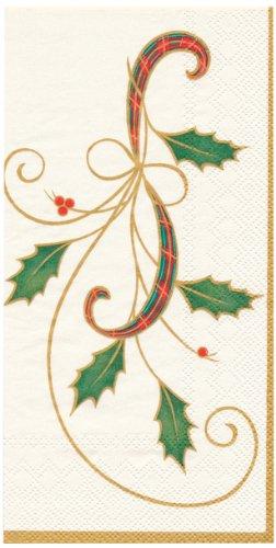 Lenox Guest Towel Decorative Paper Napkins, Holiday Nouveau, 16 Count
