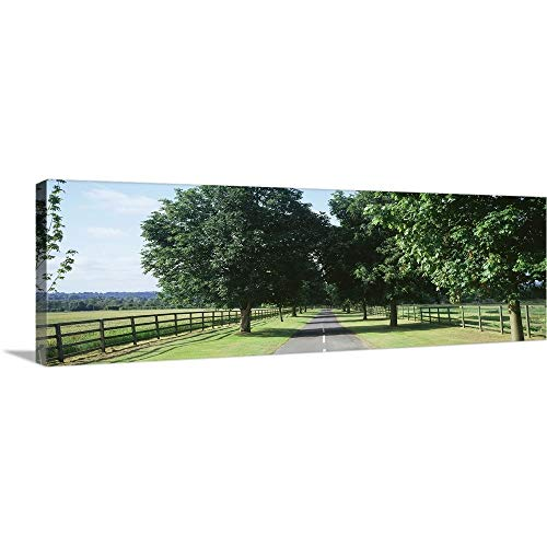 GREATBIGCANVAS Gallery-Wrapped Canvas Entitled Road Hungerford England by 60