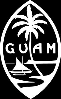 Decal Addiction  Inc   Guam Logo White Vinyl Car Laptop Window Wall Decal