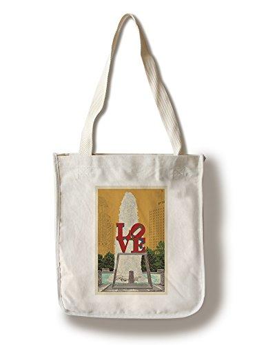 Philadelphia, Pennsylvania - Love Statue - Letterpress (100% Cotton Tote Bag - Reusable)