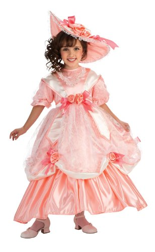 [Rubie's Deluxe Georgia Peach Costume - Large (US sizes 12-14) Ages 8-10 years] (Southern Belle Child Halloween Costume)