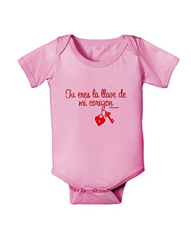 TooLoud Tu Eres La Llave De Mi Corazon Baby Romper Bodysuit - Candy Pink - 18 (Eres Bodysuit)