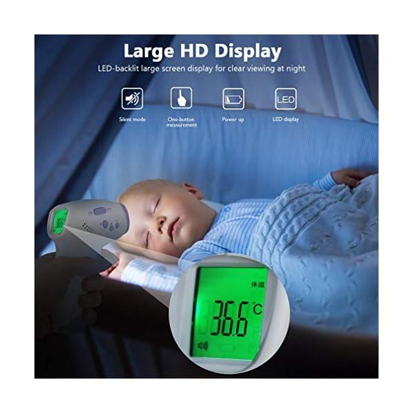 Homgrace Termómetro Frontal de Bebe Niños, lecturas precisas instantáneas, termómetro Digital infrarrojo sin Contacto Profesional, para bebés, niños, Adultos 10