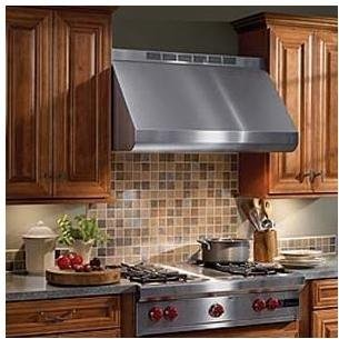 "Price comparison product image Broan Elite E60000 E60E48SS 48"" Wall-Mount Canopy Range Hood with 280 - 1500 CFM External Blower Options Variable Speed Control and Baffle Filters in Stainless Steel (Blowers Sold"