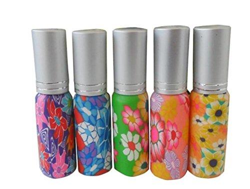 5PCS 10ml Random Color Empty Glass Perfume Spray Bottles Ref